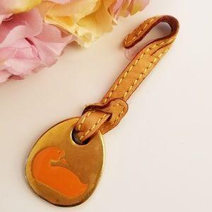 Dooney & Bourke Gold Orange Duck Hang Tag